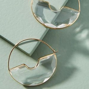 Anthropologie Temperance Hoop Earrings NWT
